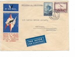 SH 0410. PA 4 + TP 389 BRUXELLES 6.XI.34 S/L. Imperial Airways England-Australia - BRUXELLES V. CAMOOWEAL. Vdb 162 - Poste Aérienne