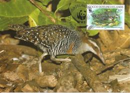 1992 - COCOS KEELING ISLANDS - Cocos Buff Banded Rail - Râle Tiklin WWF - Cocos (Keeling) Islands