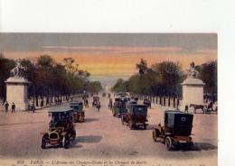 CPA - 75 - 192 -  PARIS  - L'AVENUE DES CHAMPS ELYSEES ET LES CHEVAUX DE MARLY  - N° 353 - - Champs-Elysées