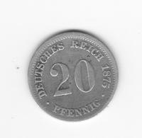 20 Pfennig 1875 F  TB+ - [ 2] 1871-1918: Deutsches Kaiserreich