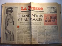 LA PRESSE N°269 De JANVIER 1951 - MISS FRANCE 1951 - ROGER DUCHET BEAUNE - RENAULT FREGATE - LAOS CAMBODGE - - 1950 - Nu