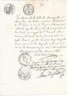 MONTPELLIER ( 34 ) - Acte Du 18 Mars 1818 - Montpellier