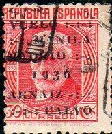 Espagne,timbre De 1920 Surchargé (vol Manille-Madrid)PA 110A Oblitéré - 1931-Hoy: 2ª República - ... Juan Carlos I