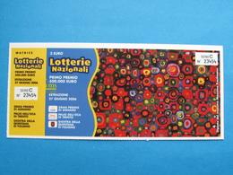 BIGLIETTO LOTTERIA AGNANO TRENTO FOLIGNO 2006 - COMPLETO DI MATRICE FDS - Biglietti Della Lotteria