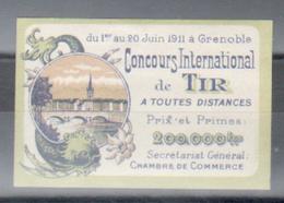 Erinophilie, Vignette, Concours International De Tir, 1er Au 20 Juin 1911, Grenoble - Sports