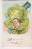 27426  Cpa En Relief  Choux  : Bebe Enfant Garçon Naissance -ed ? Série 604 1909? - Sammlungen, Lose & Serien