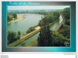 CPM..47..MEILHAN..LOT ET GARONNE..VALLEE DE LA GARONNE..LES TROIS COURBES..GARONNE..CANAL..ROUTE.. - Frankrijk