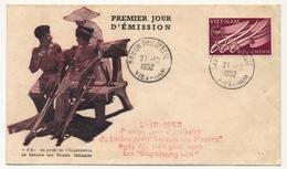 """VIET-NAM - Premier Jour Du Timbre """"Secours Aux Blessés"""" 21/12/1952 - Viêt-Nam"""