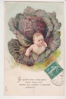 27427  Cpa En Relief  Choux  : Bebe Enfant Garçon Naissance Legume -ed ? Série 604 1909? - Sammlungen, Lose & Serien