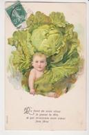 27428 Cpa En Relief  Choux  : Bebe Enfant Garçon Naissance Legume -ed ? Série 604 1909? - Sammlungen, Lose & Serien