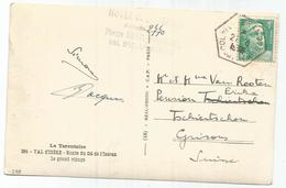 GANDON 4FR EMERAUDE SEUL CARTE 5 MOTS C. HEX COL DE L'ISERAN 2769M 1948 POUR SUISSE GERANCE - 1945-54 Marianne De Gandon