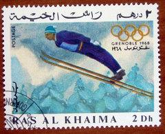 1967 RAS AL KHAIMA Sport Olimpiadi Invernali 1968 Grenoble Ski Jumping - 2d Usato - Ra's Al-Chaima