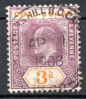 AFRIQUE - COTE DE L'OR - (Colonie Britannique) - 1902 - N° 42 - 3.p. Violet-brun Et Orange- (Edouard VII) - Costa D'Oro (...-1957)
