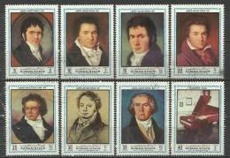 Ajman 1972, Beethoven (o), Serie Completa - Ajman