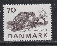 HEDGEHOG HÉRISSON IGEL RICCIO ERIZO DENMARK  DANMARK DÄNEMARK 1975 Mnh MI 603 - Rodents