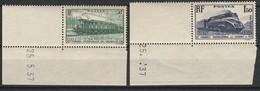 FRANCE 1937 YT N° 339 Et 340 ** COIN DATE - Frankrijk