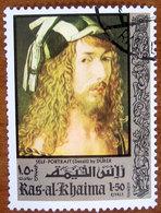 1971 RAS AL KHAIMA Air Mail Arte Dipinti Paintings By Albrecht Dürer - 1,50r Usato - Ra's Al-Chaima