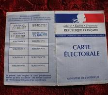 CARTE D'ÉLECTEUR SCRUTIN DU 15 MARS 2020 PENDANT LE CORONA VIRUS CODIV 19 ---ELECTIONS MUNICIPALES CONTESTÉES - Cartes
