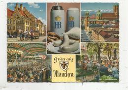Cp, Allemagne , MÜNCHEN , MUNICH , Multi Vues ,  Vierge - Muenchen