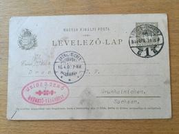 FL3566 Ungarn Ganzsache Stationery Entier Postal P 29 Von Hódmezö-Vásárhelyen Nach Grünhainichen - Interi Postali