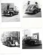 VOITURES DE DIFFERENTES MODELES IMMATRICULEES 66 - LOT DE 4 PHOTOS PYRENEES ORIENTALES - Automobili