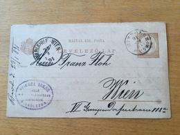 FL3566 Ungarn Ganzsache Stationery Entier Postal P 14 Von Miskolcz Nach Wien - Interi Postali