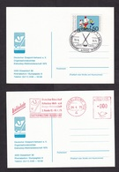 Germany: 2x Postcard, 1975, Meter Cancel / Stamp, World Championship Ice Hockey, Icehockey, Sports (traces Of Use) - [7] République Fédérale