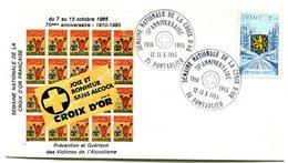 Bureau Temporaire Pontalier 12 & 13 Novembre 1985 - Semaine Nationale De La Croix D'Or - Y 50 - Cachets Commémoratifs