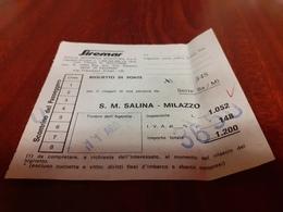 BIGLIETTO SIREMAR TRATTA S.M.SALINA- MILAZZO 1979 - Schiffstickets