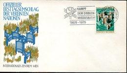 52541 United Nations Austria Vienna,postmark 1979 Kampf Dem Drogen,fight Drug Abuse,lutter Contre L'abus Des Drogues - Droga