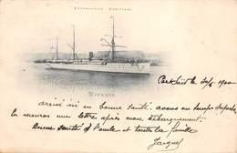Messagerie Maritime Paquebot DJEMNAH - Cachet Poste Maritime Marseille à La Réunion L.V.n°3  De 1899 - Steamers