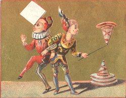 Image Chromo Doré Cirque Théâtre Saltimbanque Clown Dresseur A La Malle Anglaise B. Brisac Bayonne - Chromos