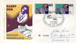 52548 Germany Fdc 1975  Kampf Dem Drogenmissbrauch, Lutte Contre La Drogue,  Drug Abuse - Droga