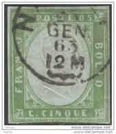 1855/63 - SARDINIA - King Victor Emanuel II, 5 Centesimi - Sardegna