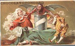 Image Chromo Doré Cirque Théâtre Saltimbanque Clown Dresseur Chocolat Grondard - Autres
