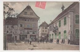 27443 DELLE 90 Vieux Delle Mairie Place Du Marché -café Ducrot -sans Ed Colorisée - Delle