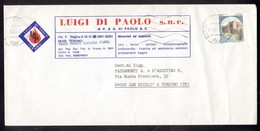 IK28   Storia Postale Italia 1983 Castelli L.450 Isolato  Su Busta Pubblicitaria Teramo - 6. 1946-.. Republik