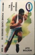 TRINITE & TOBAGO  -  Phonecard  - TSTT  -  Ato Boldon  - TT $ 20 - Trinidad En Tobago