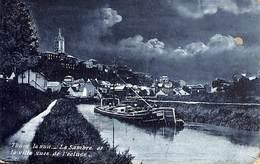 Thuin La Nuit - La Sambre Et La Ville Vues De L'écluse (1907) - Thuin