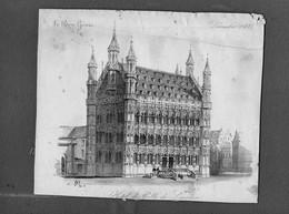 Hotel De Ville De Louvain (1833) Van Paul Lauters - Litografia