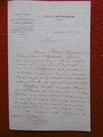 BORDEAUX LETTRE ENTÊTE CORVETTE BRILLANTE ECOLE DES MOUSSES ET NOVICES A GROTE DE LA SOCIETE ASIATIQUE A CALCUTTA 1861 - Historical Documents