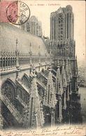 CPA 43 Reims Cathédrale Circulée Timbre 1906 Dos Non Divisé - Reims