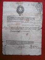 MANUSCRIT SUR PAPIER TIMBRE AUTOGRAPHE SEIGNEUR DE BEAULIEU A BEAUCAIRE 1696 - Historical Documents