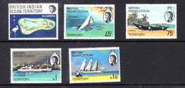 1969 - BRITISH INDIAN OCEAN TERRITORY - Mi  31/35 - NH -  (CW1822.34) - Francobolli