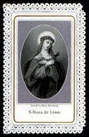 Santino Merlettato: S. ROSA DI LIMA - Mm. 60 X 100 - E - RB -  Ed. Serz & Co. - Nurnberg - Religion & Esotérisme