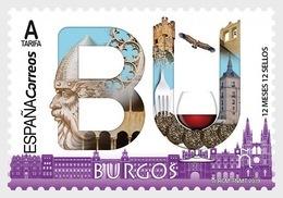 Spain 2019 - 12 Months, 12 Stamps - Burgos Mnh - 2011-... Ungebraucht