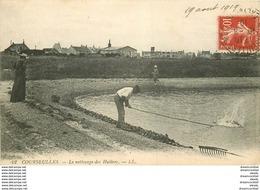 14 COURSEULLES-SUR-MER. Le Nettoyage Des Huîtres 1919 - Courseulles-sur-Mer