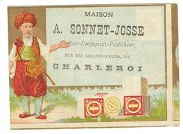 Charleroi. Chromo. Sonnet-Josse Rue Des Chaudronniers. Salon De Coiffure, Rasoirs Anglais, Français Et Allemands. **** - Otros