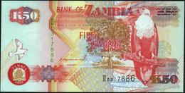 ZAMBIA - 50 Kwacha 1992 UNC P.37 A - Zambie