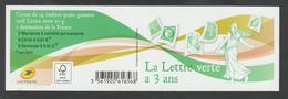 Carnet - 1521  - 2013  -   La Lettre Verte à 3 Ans  -  Neuf Et Non Plié - Carnets